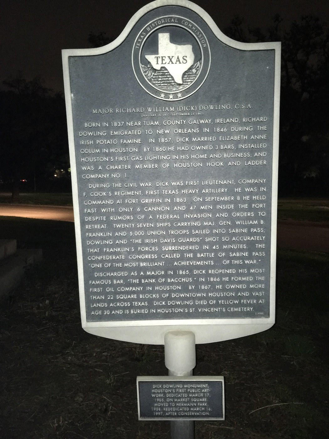 Texas State Historical Commission Marker