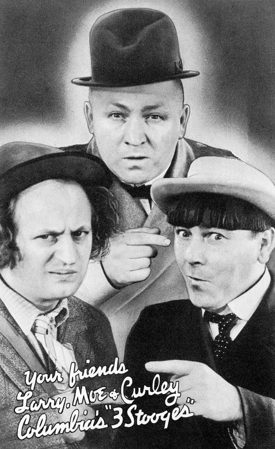 The Three Stooges (Larry Fine, Curly Howard, and Moe Howard) in 1937