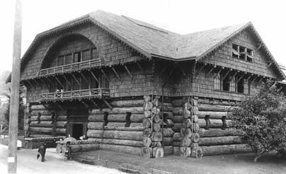 The 1905 Exposition Building was built entirely out of wood.
