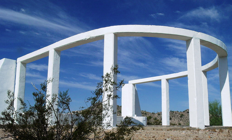 Japanese American Honor Roll memorial at the former Gila River Relocation Center. Source: Wikicommons.