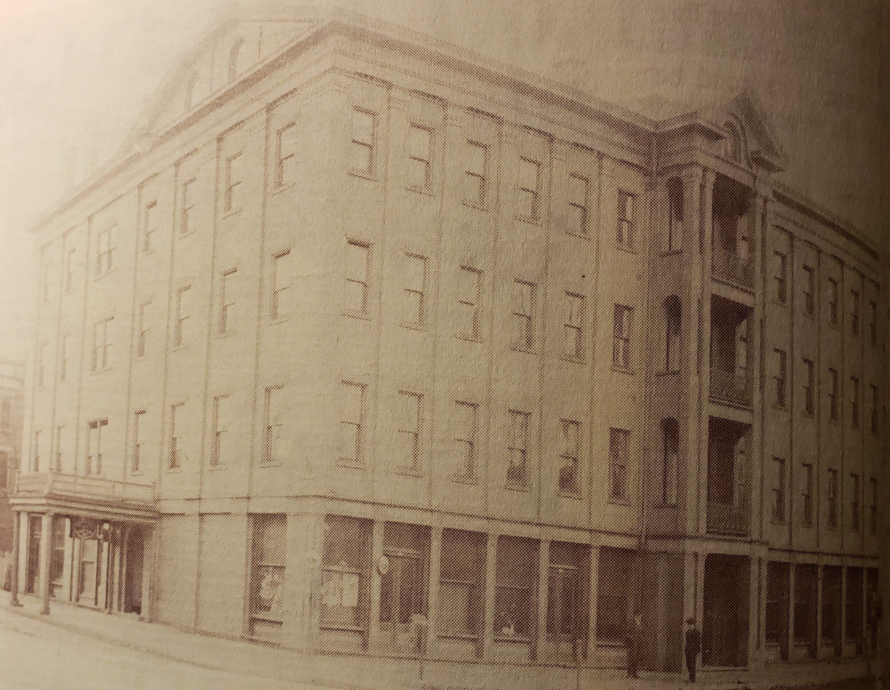The Aldine Hotel before it closed down