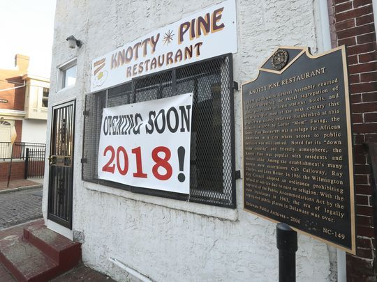 Knotty Pine Restaurant with historic marker