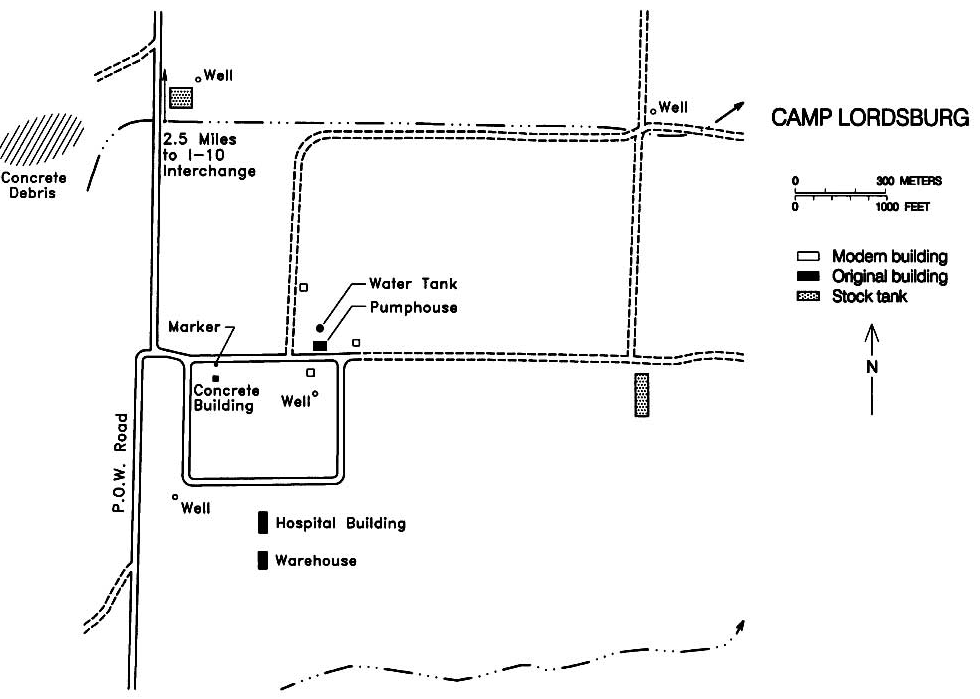 Layout of Camp Lordsburg. Source: National Park Service.