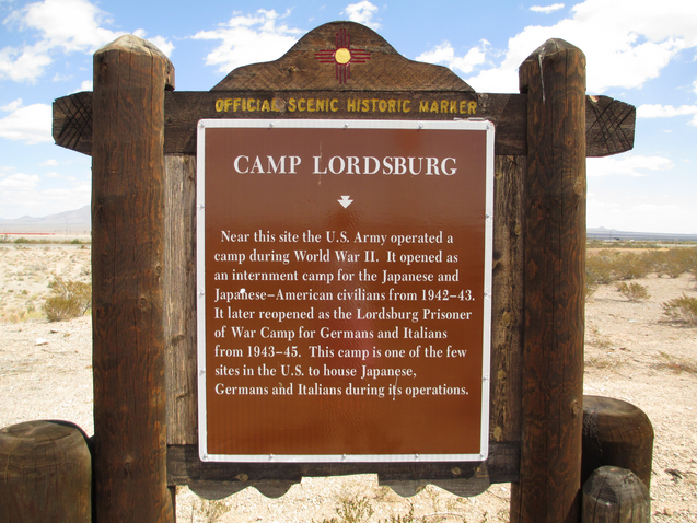 Camp Lordsburg closed operations in 1945. There is a historical marker off Prisoner of War Road, south of Interstate 10.