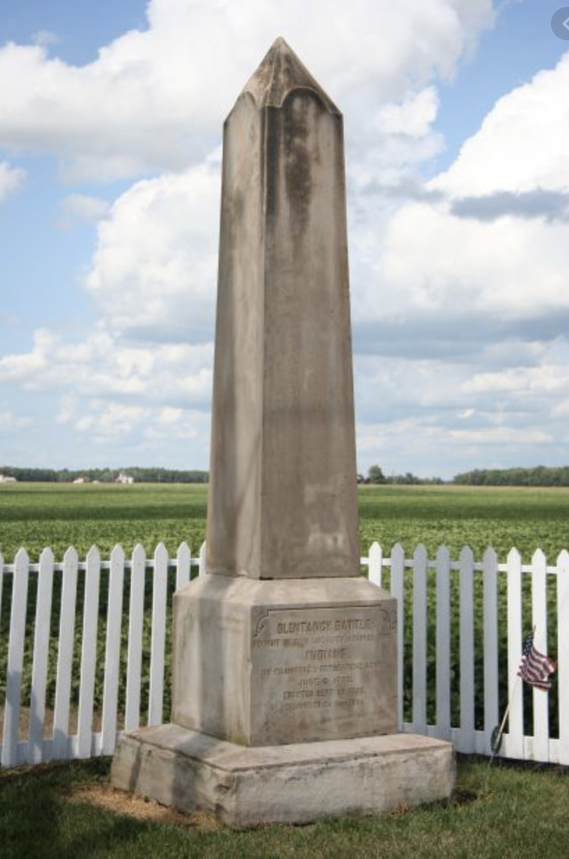The Olentangy Battle Monument was dedicated in 1896 by the Crawford County Historical Society