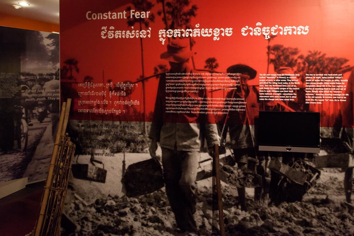 "The museum's permanent exhibit, ""Remembering the Killing Fields,"" teaches about the horrific Cambodian Genocide of 1975-1979. Image obtained from On the Grid."