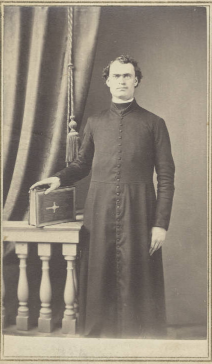 Father Patrick Manogue as a young priest. Later Bishop of the Sacramento Diocese, the towering Irishman is perhaps California's most legendary clergyman after Father Junipero Serra (Mountain West Digital Library).