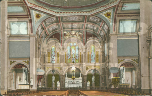 A 1910 postcard shows off the Cathedral's ornate interior.
