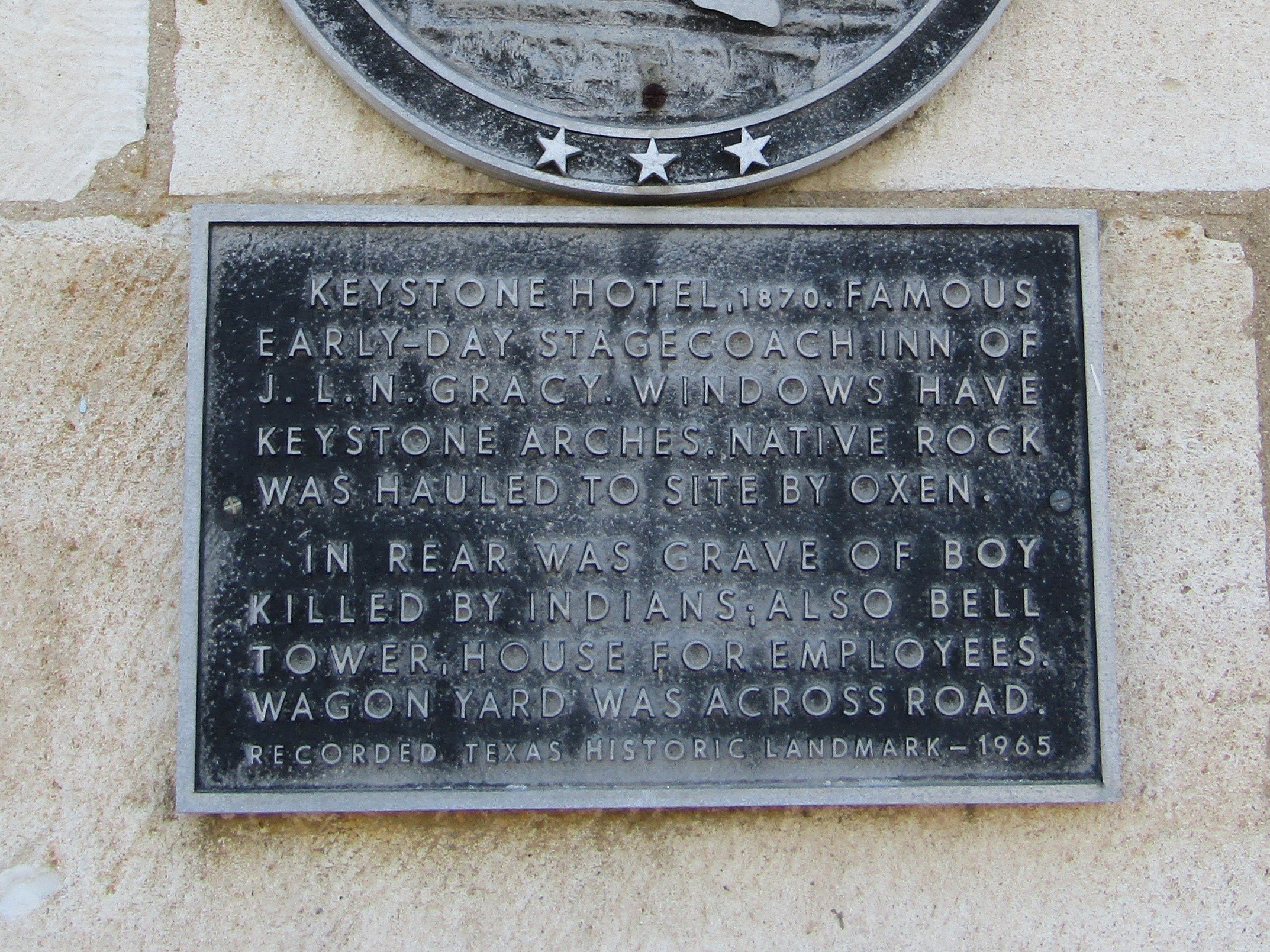 State historical plaque