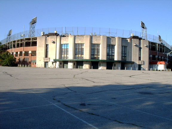 Exterior of Bush Stadium