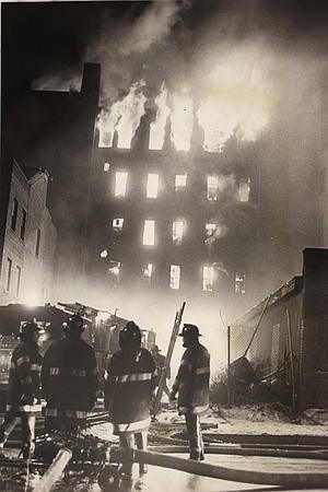 Firemen fight a blaze in 1970s Bronx.  (Vernon Shibla, NY Post)