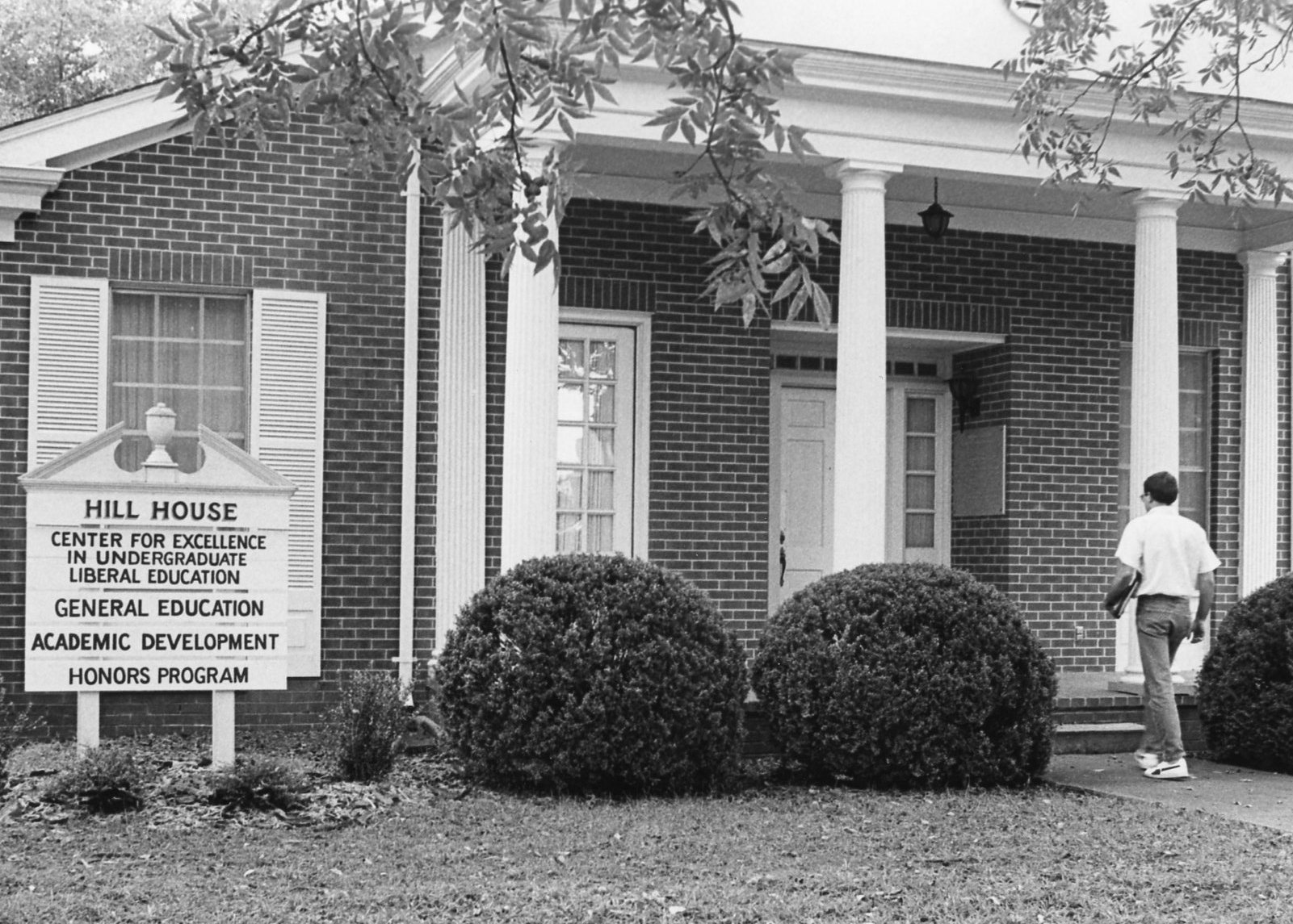 Black and White photo of Hill House.