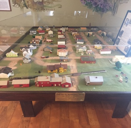 This is a model of early Montgomery, Texas.
