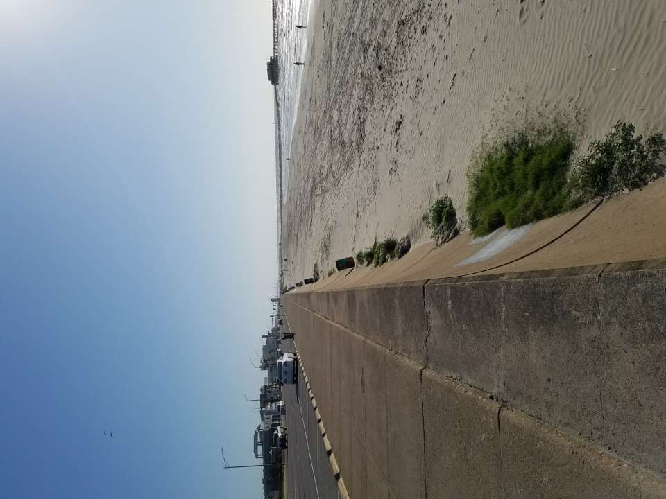 Mile long section of Galveston Sewall