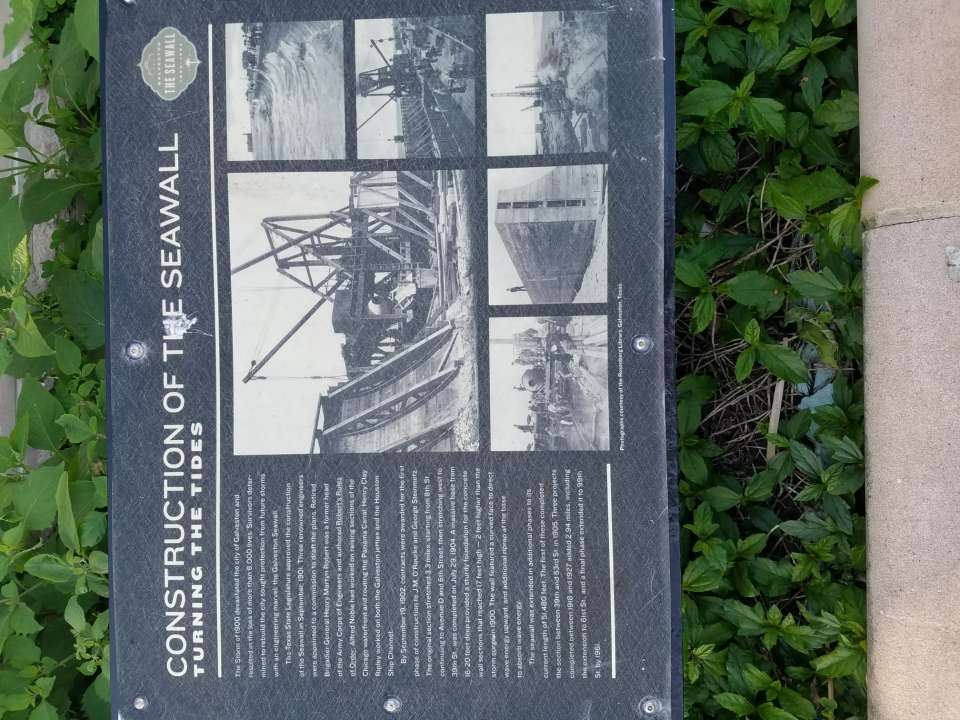 Construction of the Seawall Plaque