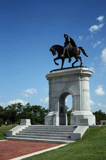 Angled view of the Sam Houston Monument