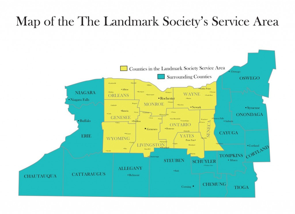 Areas serviced by the Landmark Society.