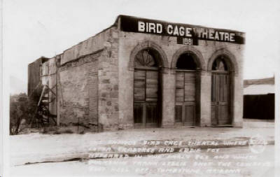Historic photograph of the Bird Cage Theatre