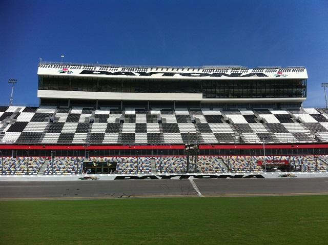 The finish line at Daytona International Speedway