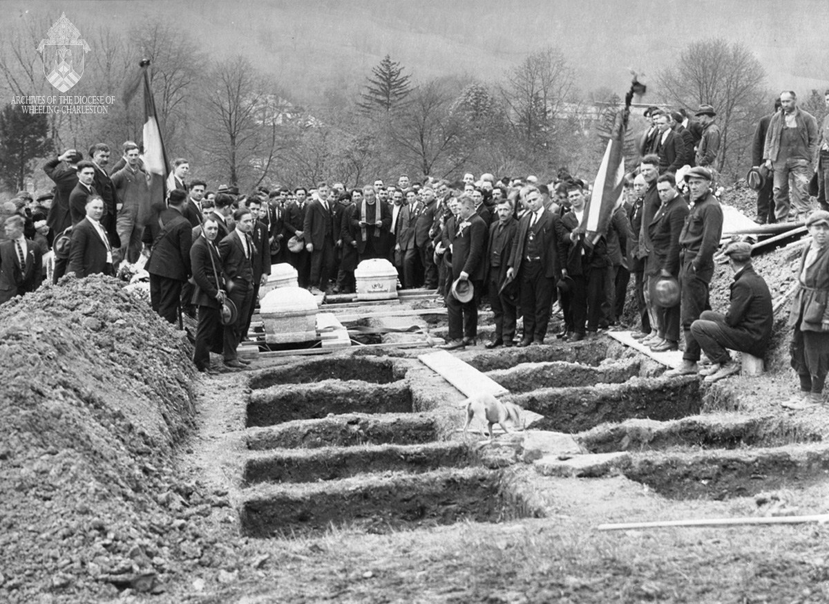 The mass graves of the victims. They were laid to rest in May 1924.