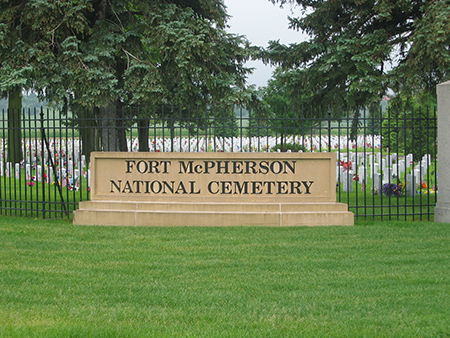 Fort McPherson National Cemetery was established in 1873.