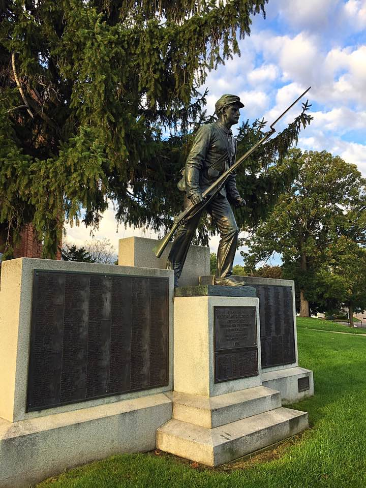 The Soldiers & Sailors Civil War Monument was installed on the grounds of the Historic Courthouse in 1911.
