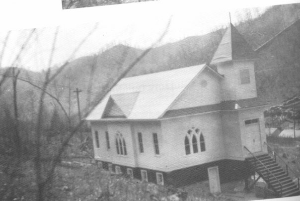 Early photo of the church at Helen.