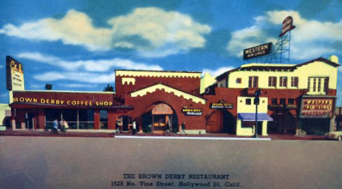 The Hollywood Brown Derby in the 1950s.