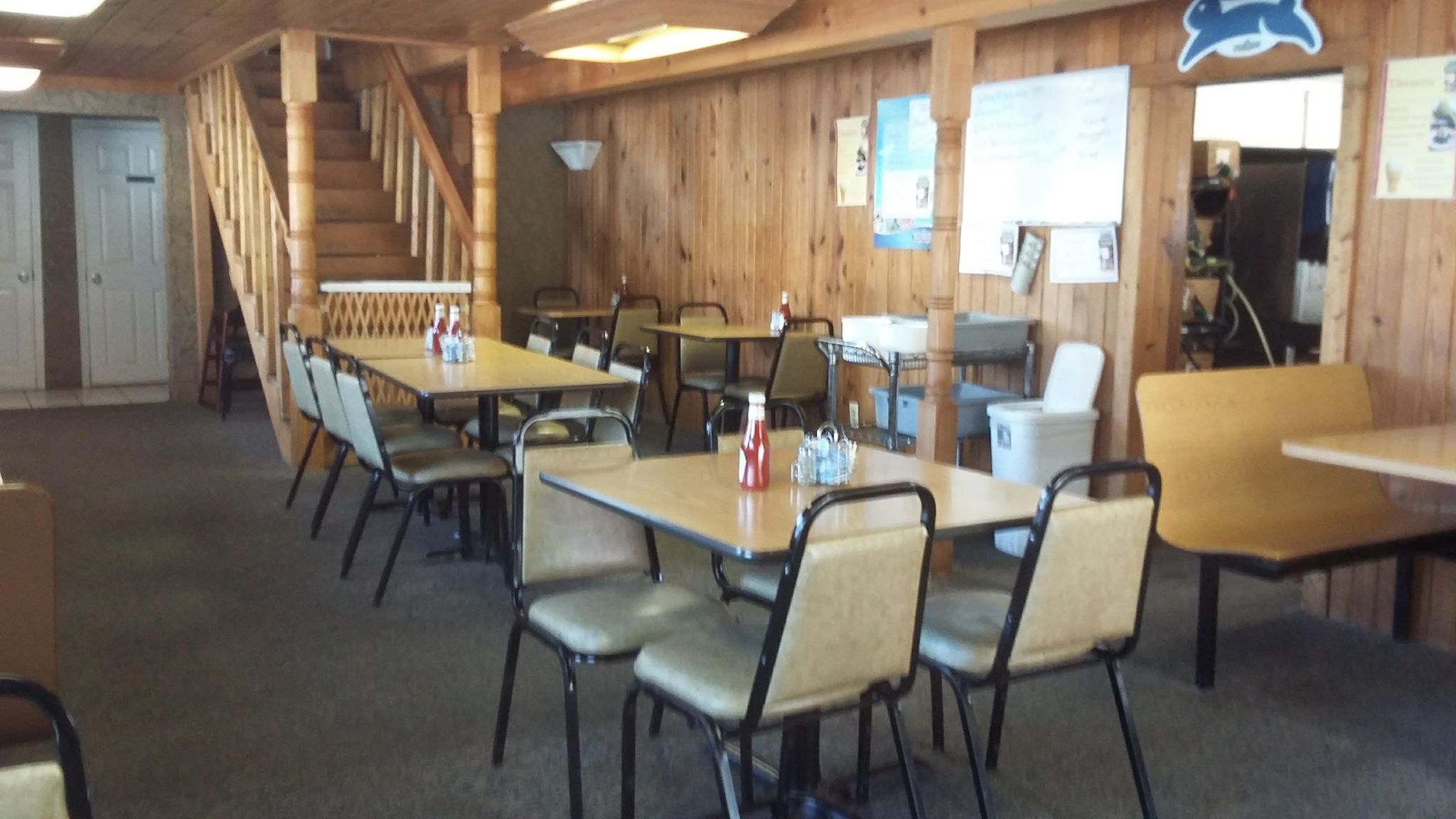 This is a view of the interior of the restaurant. Originally, Parkway was strictly curb service only. In the later years of the business, a dining room would open up. It started out as a one story building, a second story was added.