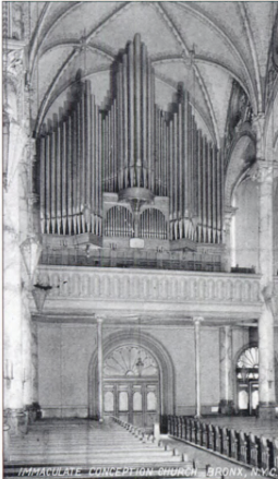 Organ in Immaculate Conception Church, Photo From The Bronx, In Bits and Pieces, by Bill Twomey