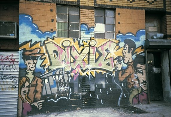 Front Mural of the Dixie in Wild Style