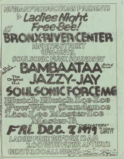 A typical example of a flyer for an event at a club similar to the Dixie.