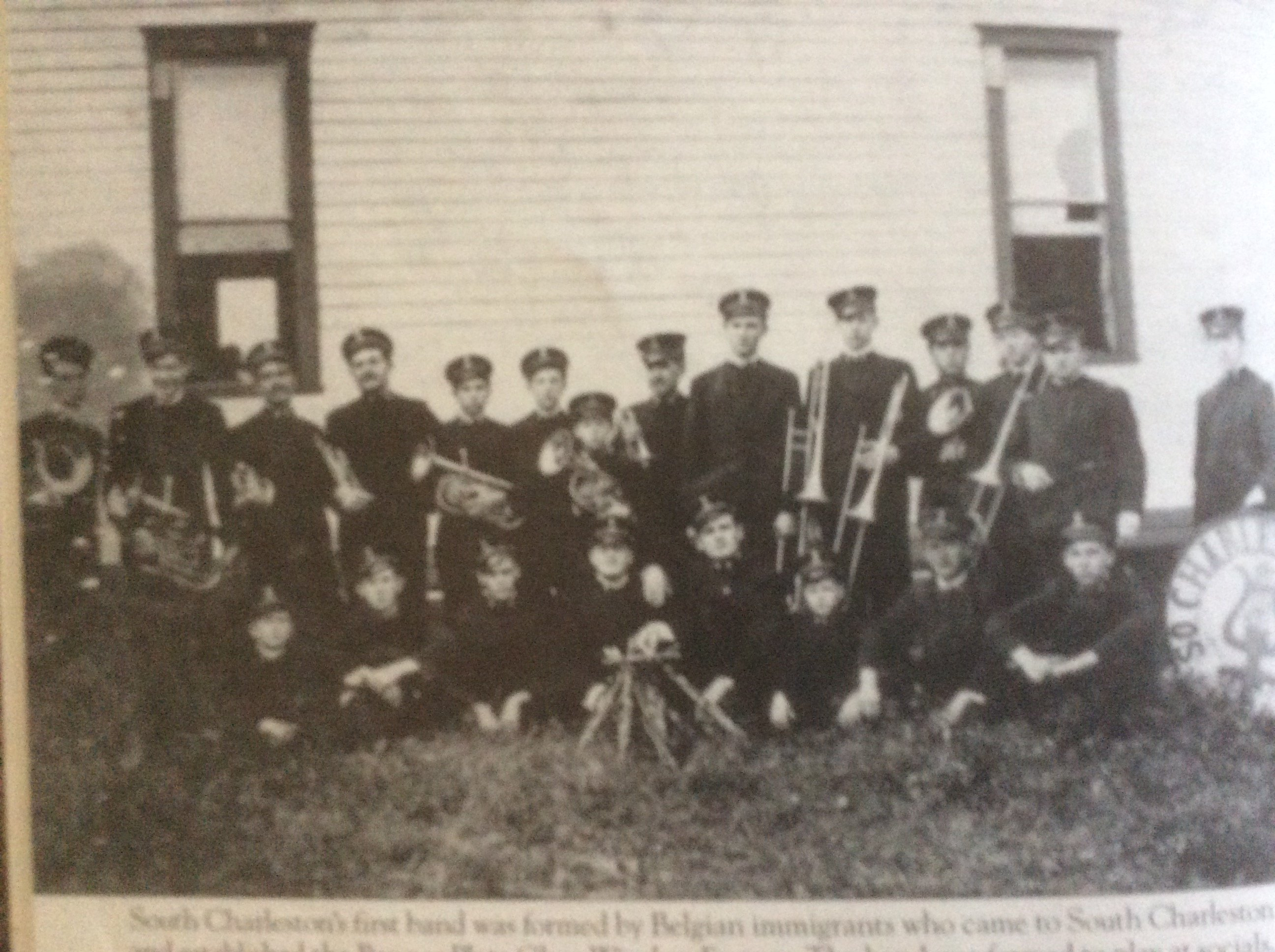 Taken circa 1914, South Charleston's first band was formed by Belgian immigrants who came to South Charleston and established the Banner Plate Window Factory.