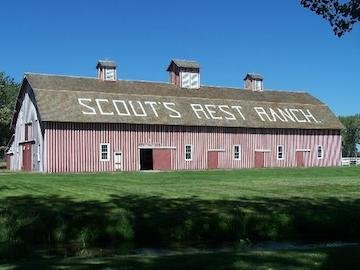 The barn is two-stories tall. Inside, visitors will see memorabilia and artifacts of ranch life.