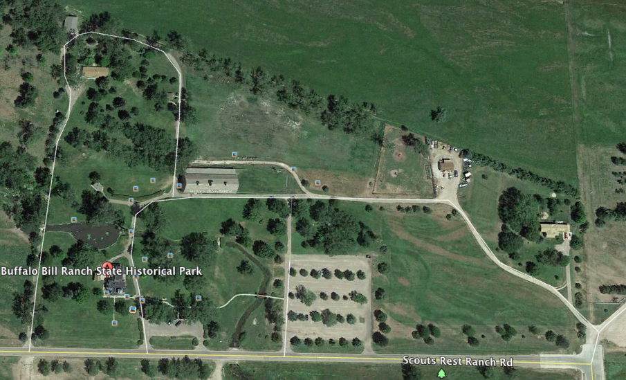 Aerial view of the current site