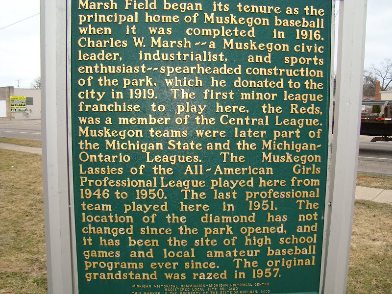 Marsh Field was home to he Muskegon Lassies from 1946-1950.