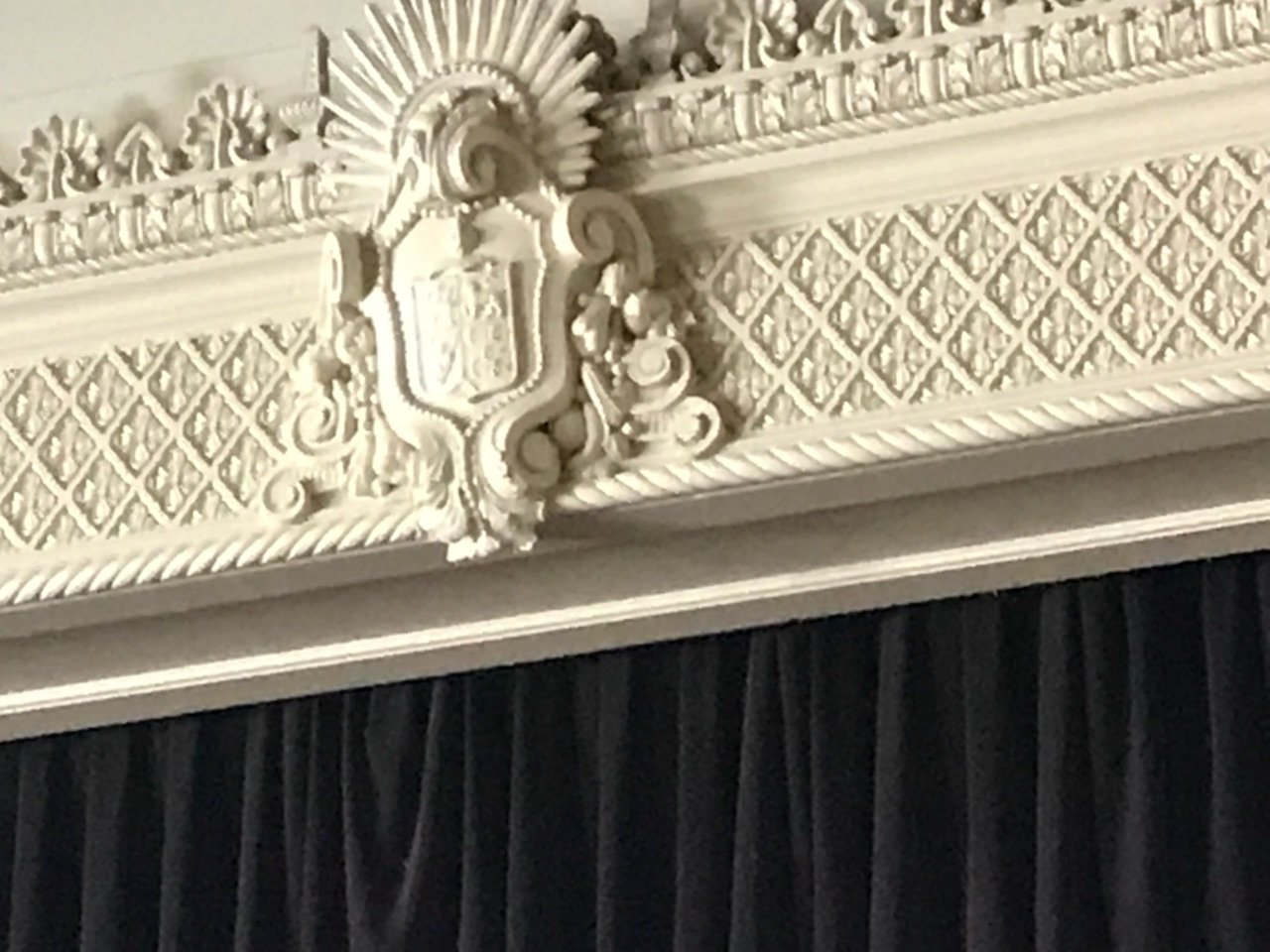 Scoular Ballroom restored sculpture and relief work