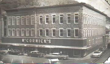 An older photo of McCormick's before the paneling was added to the front. 