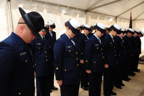 Coast Guard recruits From Training Center Cape May, Courtesy of The U.S. Coast Guard in 2017