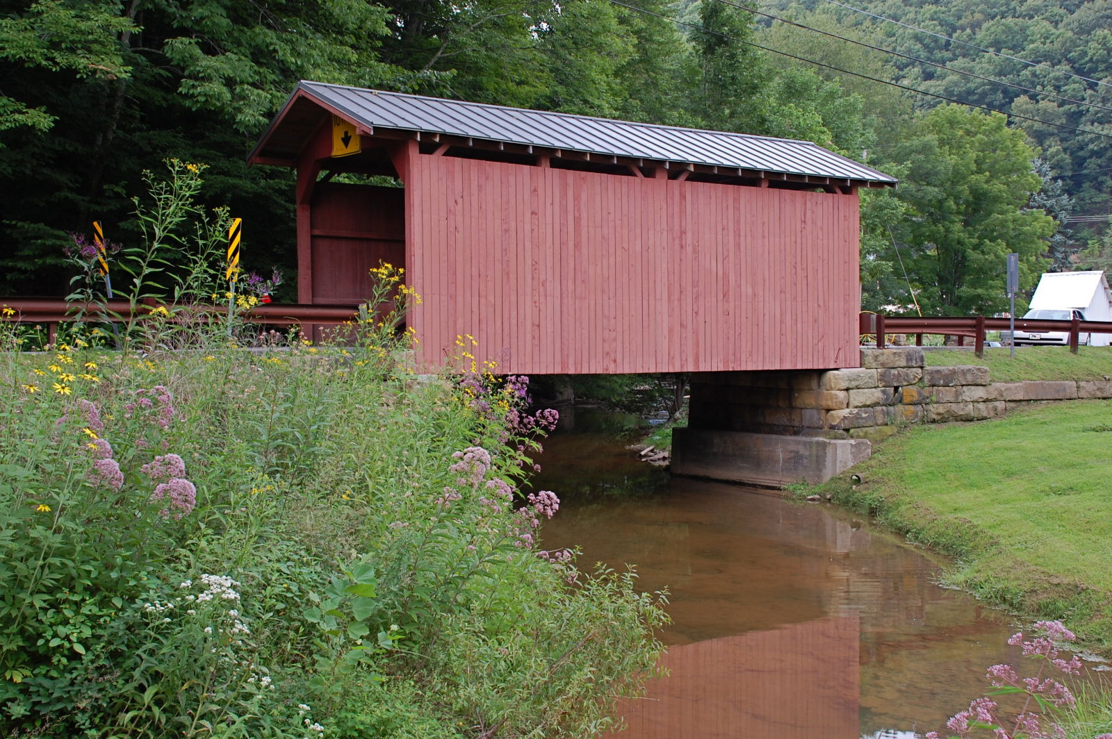 The Fish Creek Covered Bridge in Hundred.