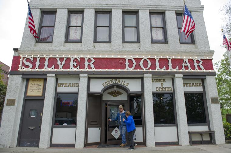 The two-story saloon is one of Marysville's oldest sites. Two plaques flanking the facade share additional moments in local history (photo Chris Kaufman/Appeal-Democrat).