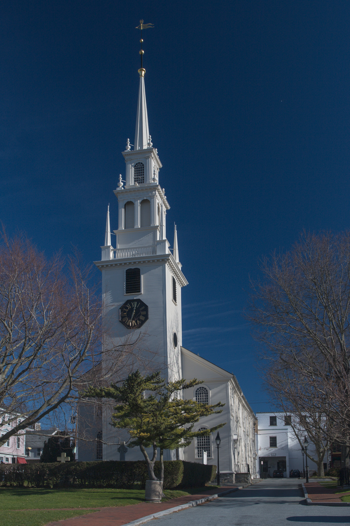 Trinity Church's steeple has been a fixture on Newport's skyline since 1741.