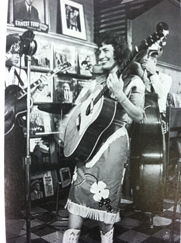 Loretta Lynn Performing on Ernest Tubb's Midnite Jamboree in the Record Shop, 1960