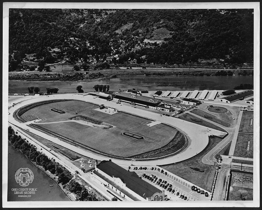 Areial view of the track