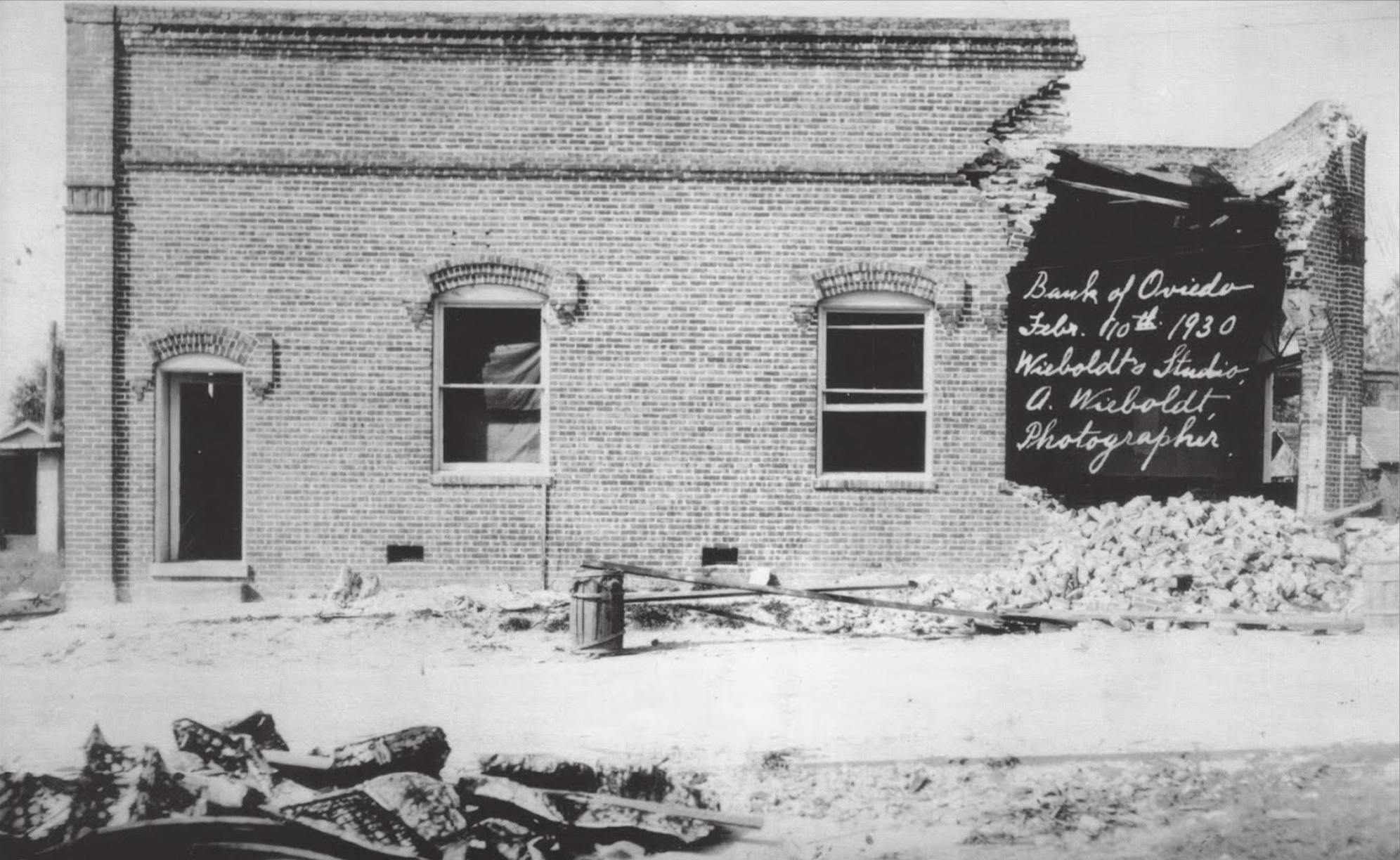 This is a picture of the bank after it was bombed in 1929