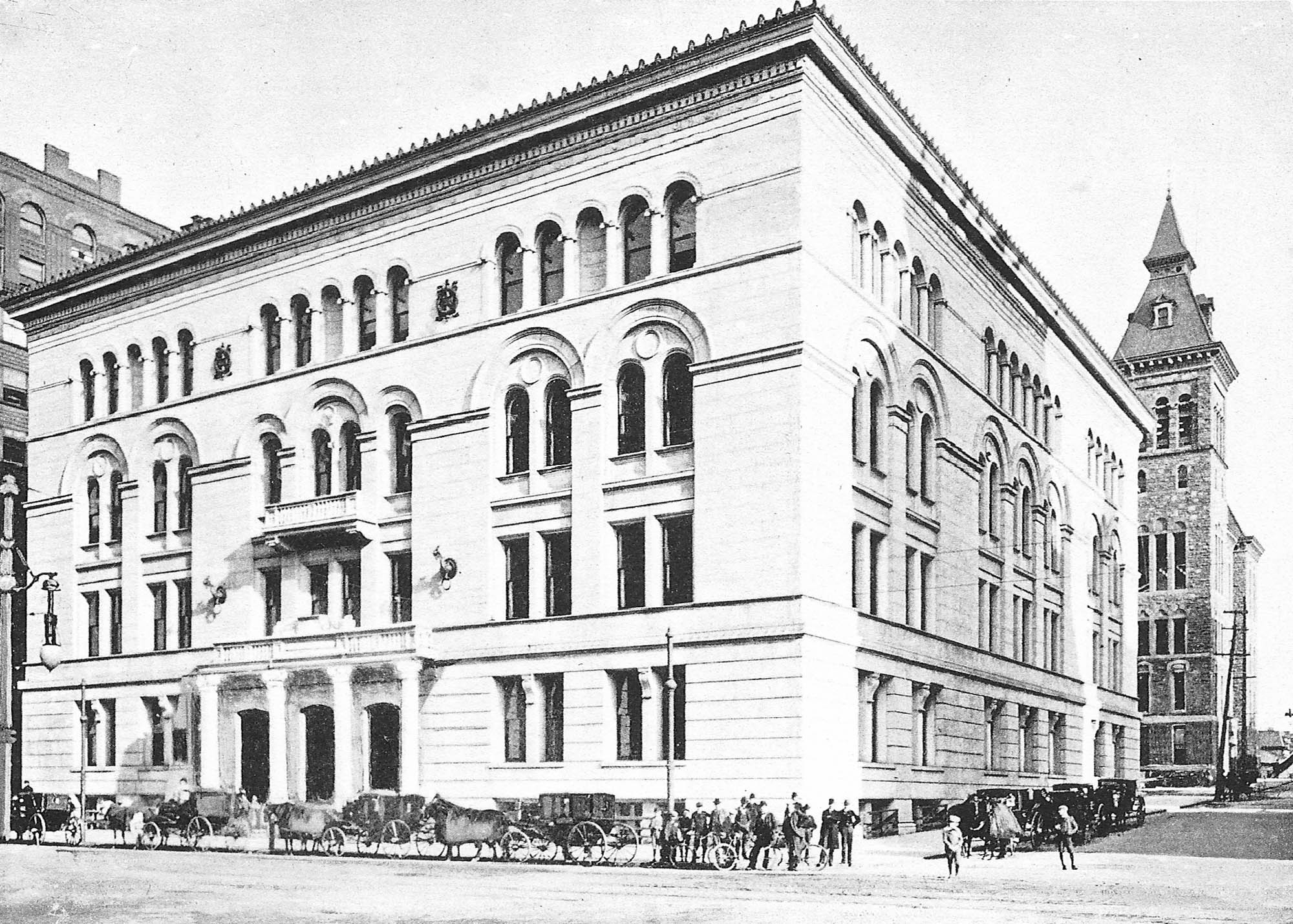 Former Rochester Courthouse after its completion in 1896