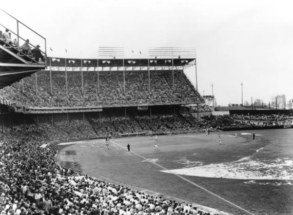 Kansas City Municipal Stadium in 1955
