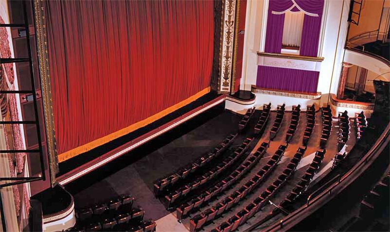 Theater curtain, Wood, Interior design, Chair