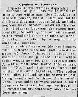 Article about the race riot in Market Square