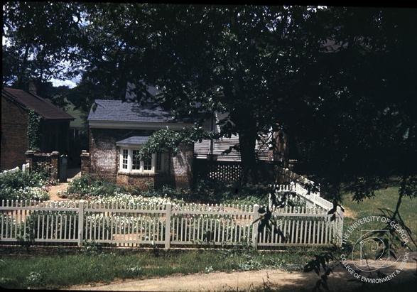 Founders Memorial Garden's Boxwood Garden c.1940